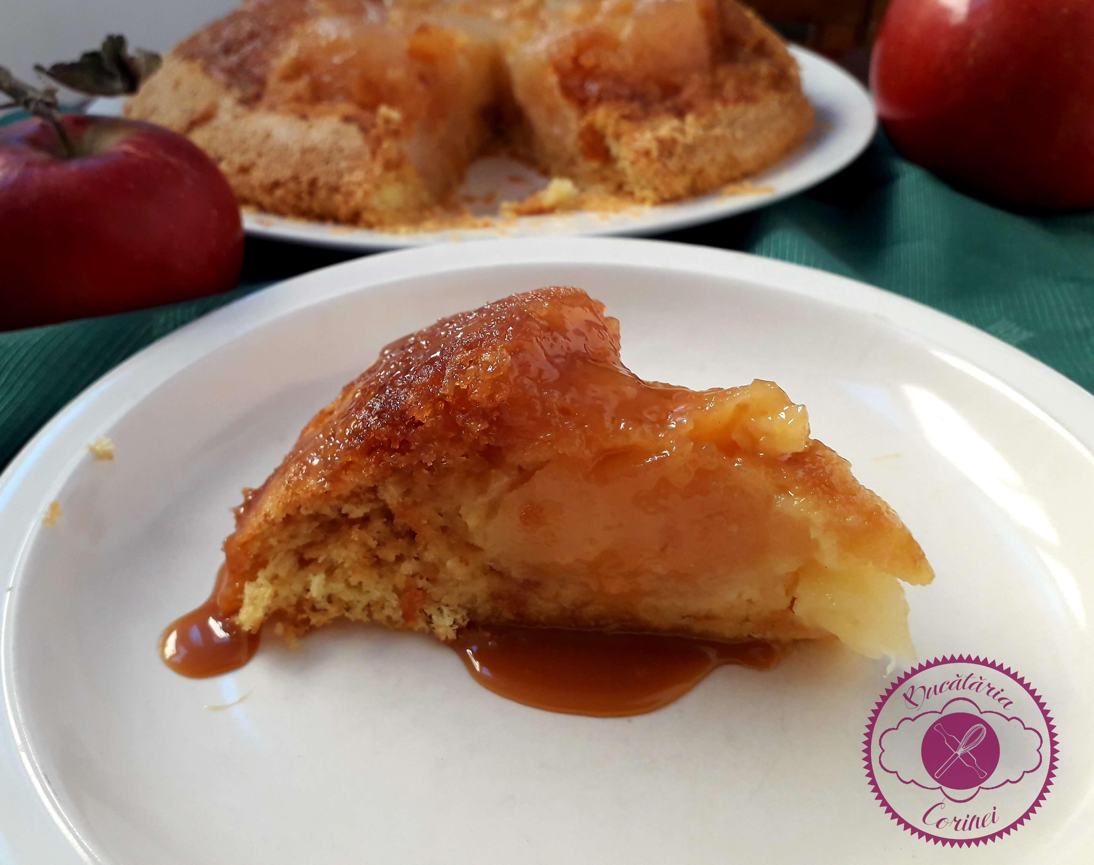 Tort de mere intregi, caramelizate